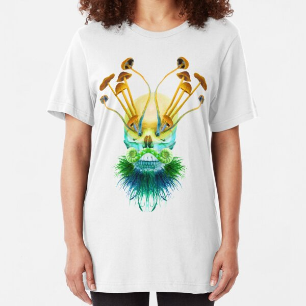 Psychedelic Shaman Slim Fit T-Shirt