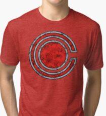 Cyborg - DC Spray Paint Tri-blend T-Shirt