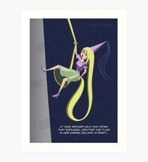 Rapunzel Abseil Escape Attempt Art Print