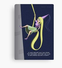 Rapunzel Abseil Escape Attempt Canvas Print
