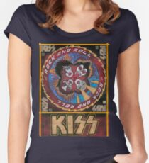 Rock and Roll Kiss Women's Fitted Scoop T-Shirt
