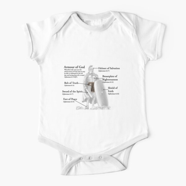 Armour of God Christian Most Popular Verse for protection Short Sleeve Baby One-Piece