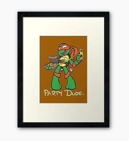 Teenage Mutant Ninja Turtles- Michaelangelo Framed Print
