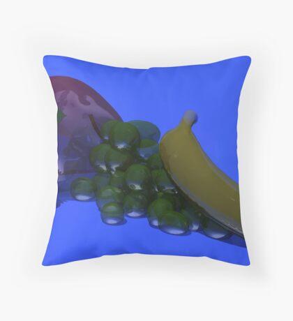 glass fruit Throw Pillow