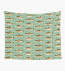 vintage trout Wall Tapestry