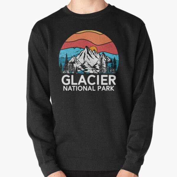 Vintage Glacier National Park Retro 80s Montana Mountain Pullover Sweatshirt
