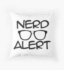Nerd Alert Throw Pillow