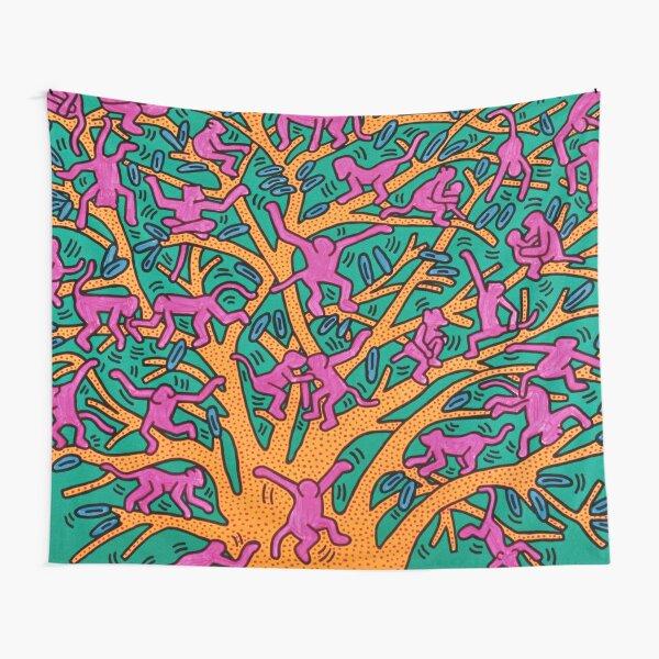 tree of monkey Tapestry