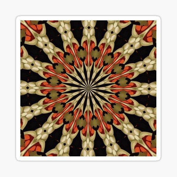 Coral Caramel Mocha and Cream Kaleidoscope Sticker