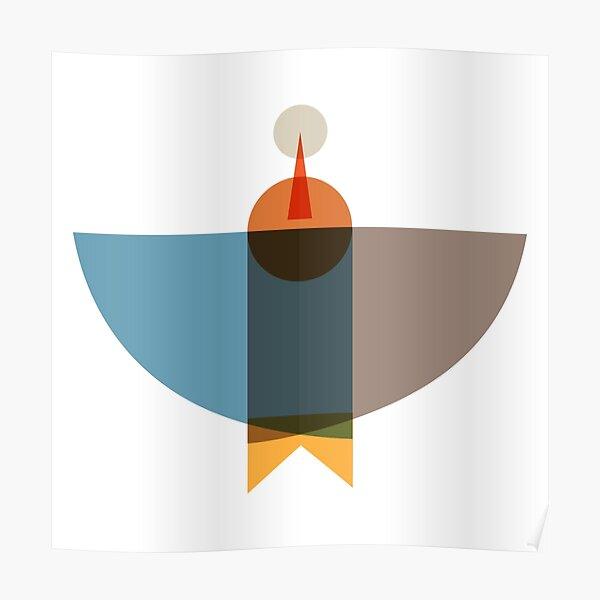 Blue Brown Birds  Poster