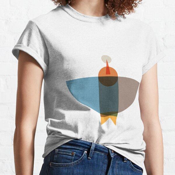 Blue Brown Birds  Classic T-Shirt