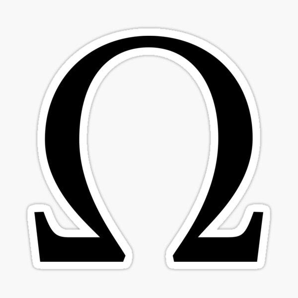 Omega Greek Letter Sticker