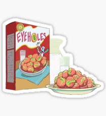rick and morty eyeholes Sticker