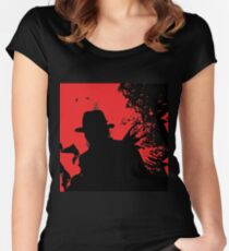 Icons of Horror - Freddy Women's Fitted Scoop T-Shirt