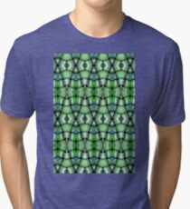 Intricate woven green diamonds Tri-blend T-Shirt