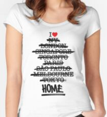 No Place Like Home (classic version) Women's Fitted Scoop T-Shirt