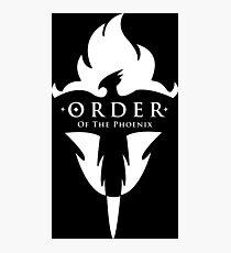 ORDER Of The Phoenix White Photographic Print