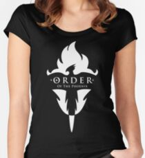 ORDER Of The Phoenix White Women's Fitted Scoop T-Shirt