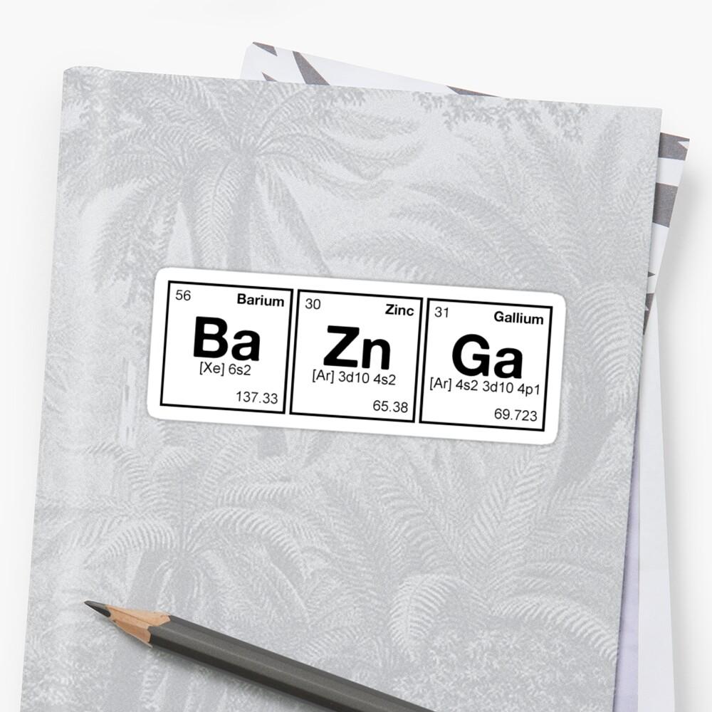 Ba zn ga periodic table scrabble monotone stickers by dennis periodic table scrabble monotone by dennis william gaylor gamestrikefo Choice Image