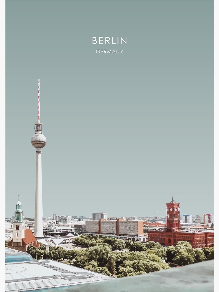 Berlin, Germany Travel Artwork by Travel2NZ