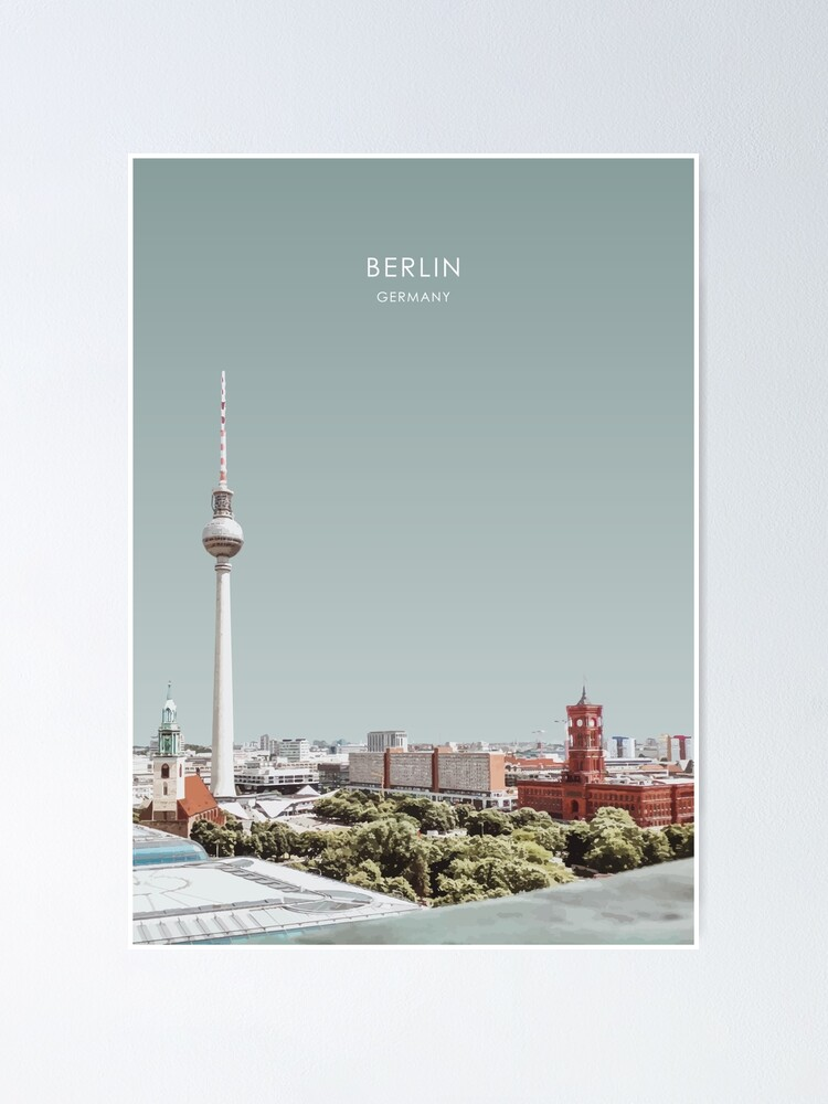 Alternate view of Berlin, Germany Travel Artwork Poster