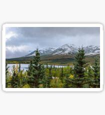 Alaska Mountain Range View Sticker