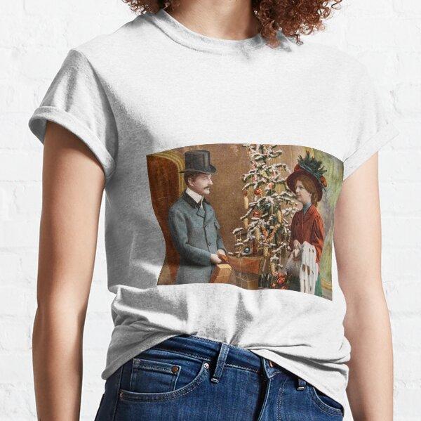 Vintage Victorian Christmas Classic T-Shirt