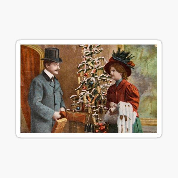Vintage Victorian Christmas Sticker