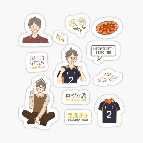 haikyuu - sugawara sticker pack Sticker