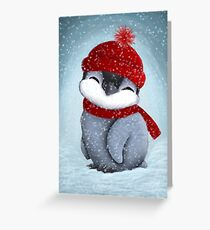 Baby penguin Greeting Card