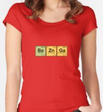 Ba Zn Ga! - periodic elements scramble Women's Fitted Scoop T-Shirt