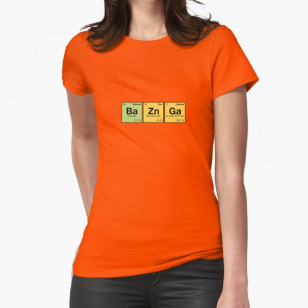 Ba Zn Ga! - periodic elements scramble Fitted T-Shirt