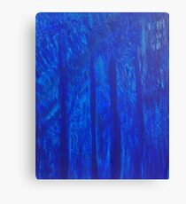 Rhapsody in Blue Acrylic Painting on Canvas Print Canvas Print