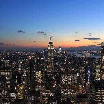 NYC at dusk de NathanTse