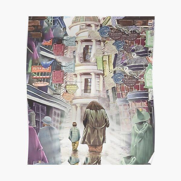 Harry & hagrid diagon alley Poster