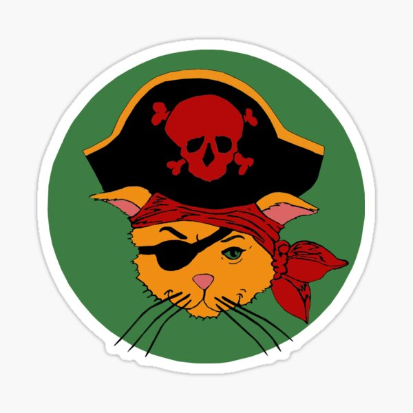 The Dread Pirate Kitty Sticker