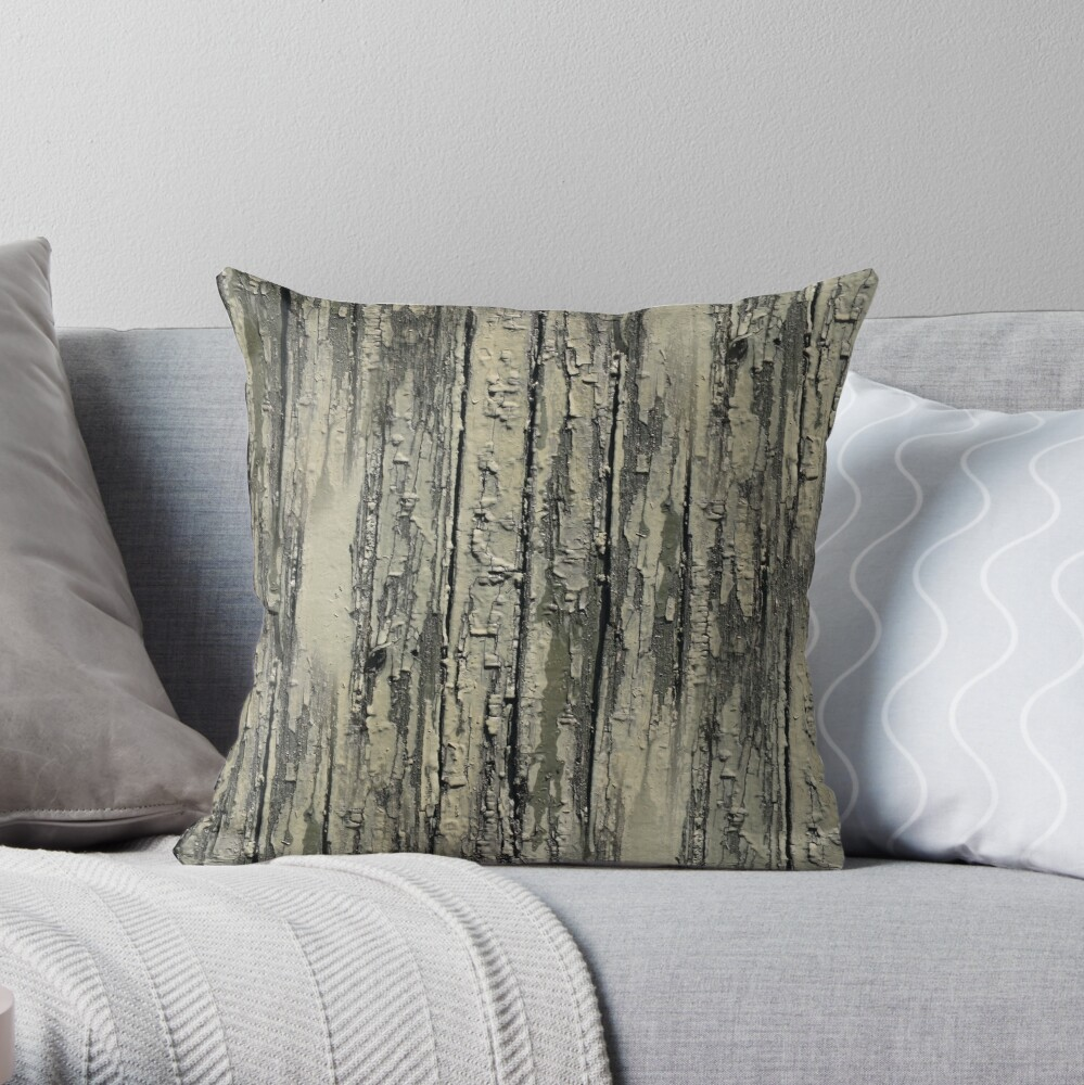 Old wood on Throw Pillow