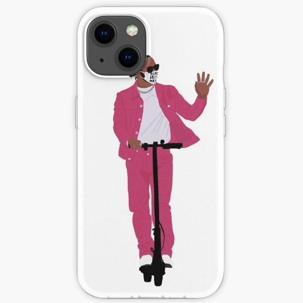 Lewis Hamilton in Pink beim Emilia Romagna Grand Prix 2020 in Imola iPhone Flexible Hülle