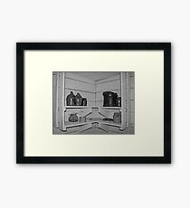 Shelves and Jars Framed Print