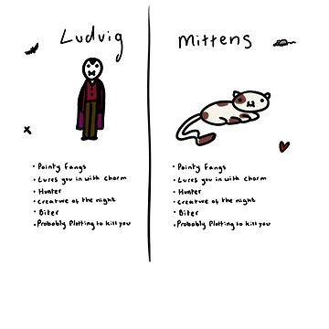 Vampire vs Cat by nooriginalnames
