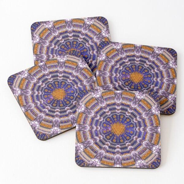 TetraGrid Healing Room Coasters (Set of 4)