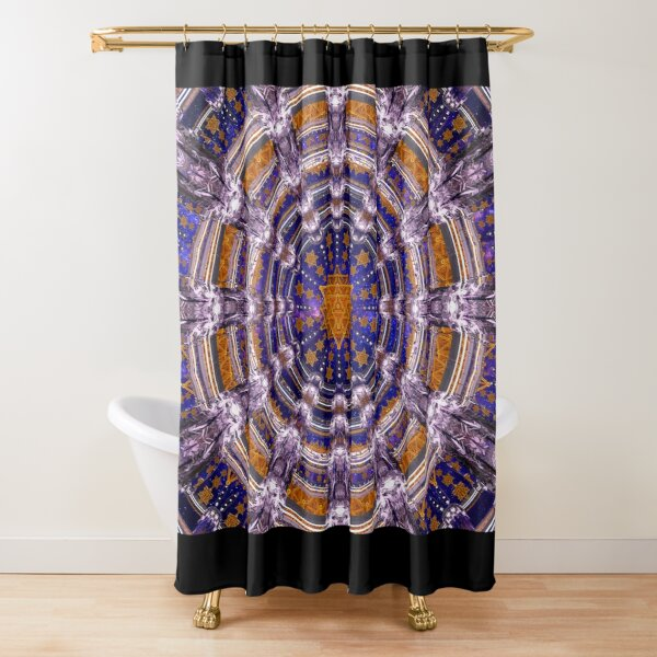 TetraGrid Healing Room Shower Curtain