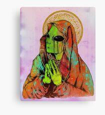 Praying Alien Canvas Print