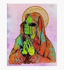 Praying Alien Photographic Print