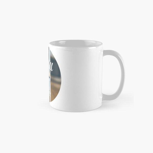 Optimistic Life is Half Full Guy Classic Mug