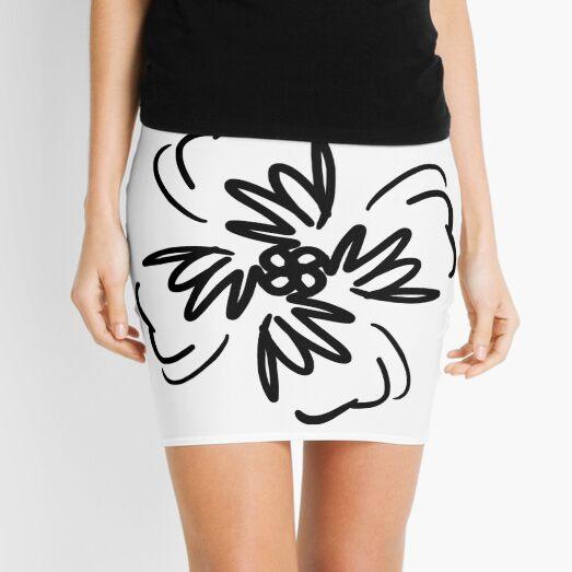 Vector Flower Mini Skirt