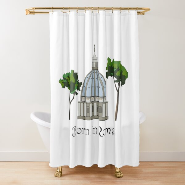 Born in Rome . St Peter's Basilica Shower Curtain