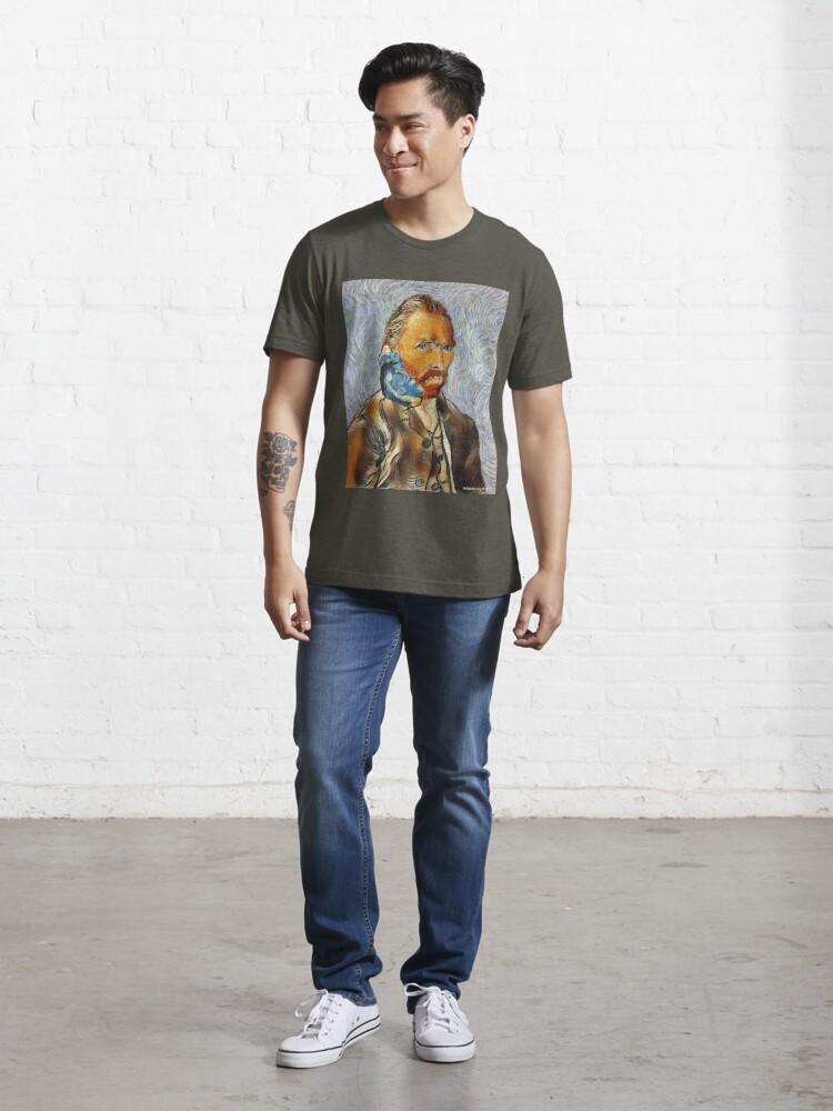 Alternate view of Van Gogh Unmasked Essential T-Shirt
