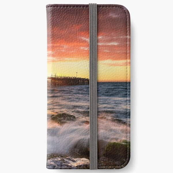 Old Totland Pier Sunset iPhone Wallet