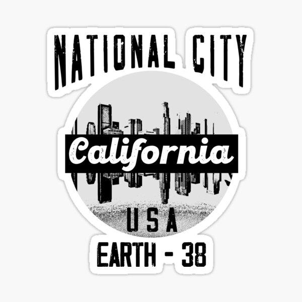National City California Estados Unidos Tierra-38 Pegatina